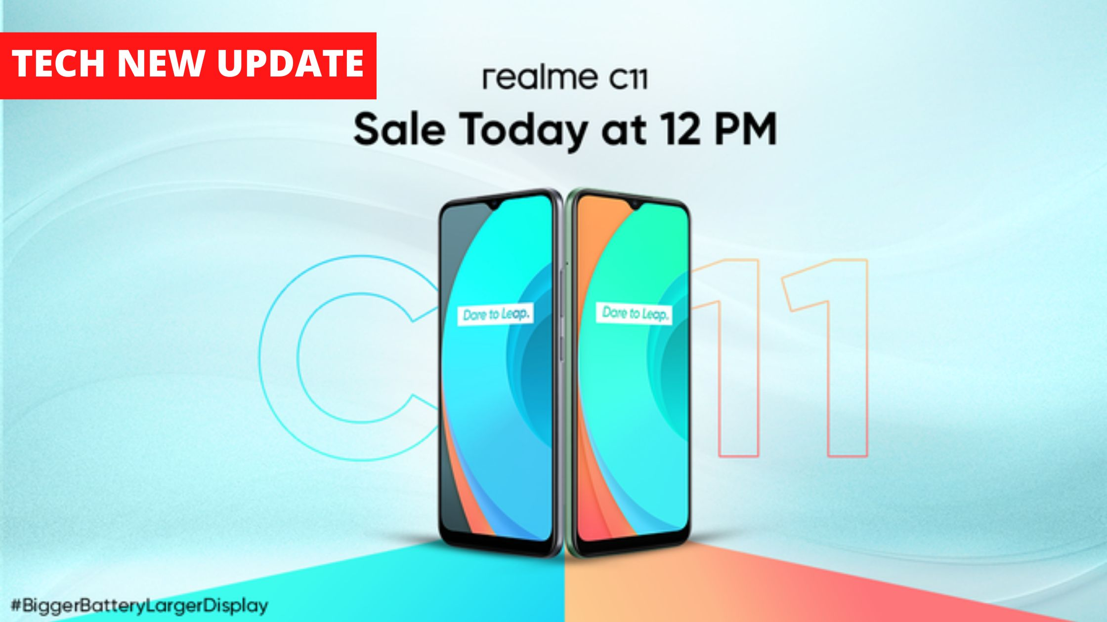 first sale of Realme C11 from 12 noon today on Flipkart and realme.com